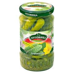 фото Огурцы Луговица корнишоны маринованные с зеленью  370 гр
