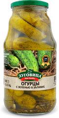 фото Огурцы консервированные Луговица New Quality с зеленью в заливке 1с ГОСТ 1800 мл, сб