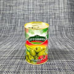 фото Оливки зеленые с перцем ж/б