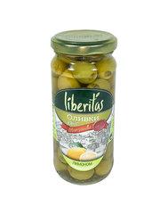 фото Оливки Liberitas фаршированные  лимоном 240 гр.