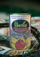 фото Оливки Liberitas фаршированные с перцем 0.300 мл. / 280 гр.
