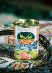 фото Оливки Liberitas фаршированные с лососем 0.300 мл. / 280 гр.