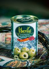 фото Оливки Liberitas зеленые без косточек 0.300 мл. / 280 гр.