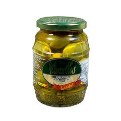 фото Оливки Liberitas зеленые с косточкой Gordal 370 мл