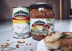 фото Картофель тушеный с грибами Луговица, 500 гр, ГОСТ