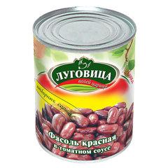 фото Фасоль красная в томатном соусе ж/б 360 гр