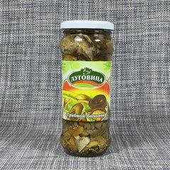фото Грибы грибной бочонок маринованные Луговица 580 гр