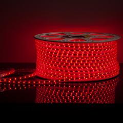 фото Светодиодная лента LS004 220V 4,8W 60Led 2835 IP65 красный