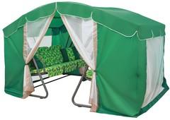фото Садовые качели шестиместные ТЕТ-А-ТЕТ 40 Зеленый