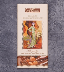 фото Шоколад Ameri Premium Belgian Chocolate. Milk chocolate with Caramel and Fleur de Sel
