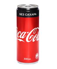 фото Coca-cola Zero без сахара напиток газированный 330 мл