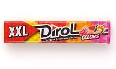 фото Жевательная резинка Dirol Colors XXL Ассорти фруктовых вкусов 19 г