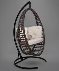 фото Подвесное кресло-кокон Derbent коричневое + каркас