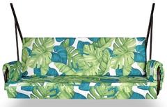 фото Двухсторонний матрас   для садовых качелей ЛИСТЬЯ МОНСТЕРА