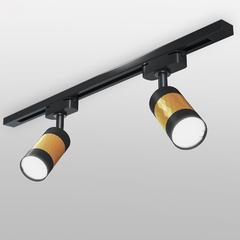 фото Трековый светильник для однофазного шинопровода Mizar GU10 Черный/золото MRL 1007