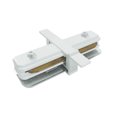 фото TRCM-1-I-WH / Коннектор прямой для однофазного встраиваемого шинопровода (белый) TRCM-1-I-WH