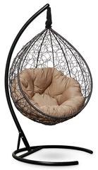 фото Подвесное кресло SEVILLA VERDE черное + каркас