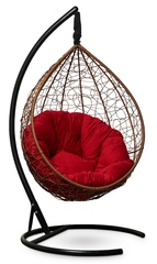 фото Подвесное кресло SEVILLA VERDE VELOUR горячий шоколад + каркас