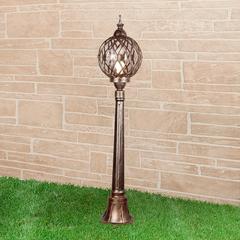фото Sirius F черное золото уличный светильник на столбе IP44 Sirius F