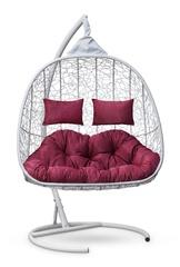 фото Подвесное кресло-кокон SEVILLA TWIN белое + каркас