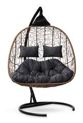 фото Подвесное кресло-кокон SEVILLA TWIN горячий шоколад + каркас