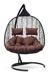 фото Подвесное кресло-кокон SEVILLA TWIN черное + каркас