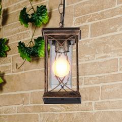 фото Spica H черное золото Подвесной уличный светильник IP33 GL 1026H