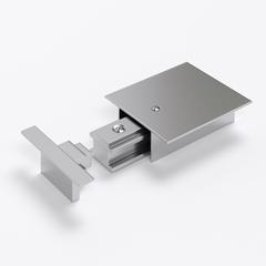 фото Ввод питания и заглушка торцевая для однофазного встраиваемого шинопровода (серебристый) /TRPF-1-CH TRPF-1-CH