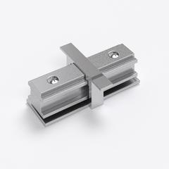 фото Коннектор прямой для однофазного встраиваемого шинопровода (серебристый) TRCM-1-I-CH TRCM-1-I-CH