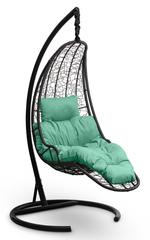 фото Подвесное кресло-кокон LUNA черное + каркас