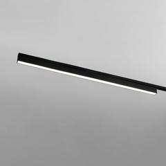 фото Трековый светодиодный светильник для однофазного шинопровода X-Line черный матовый LTB54