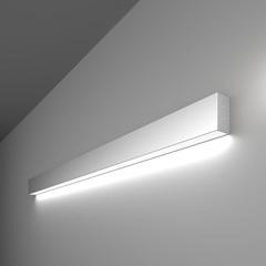 фото Линейный светодиодный накладной односторонний светильник 103см 20Вт 6500К матовое серебро 100-100-30-103