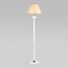 фото Напольный светильник с абажуром 01086/1 глянцевый белый