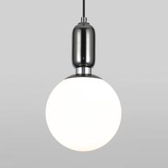 фото Подвесной светильник со стеклянным плафоном 50197/1 черный жемчуг