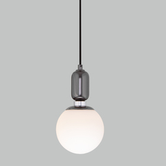 фото Подвесной светильник со стеклянным плафоном 50151/1 черный жемчуг