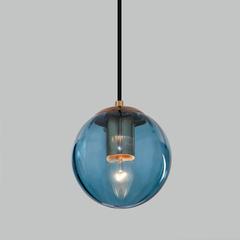 фото Подвесной светильник со стеклянным плафоном 50207/1 синий