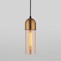 фото Подвесной светильник со стеклянным плафоном 50180/1 янтарный