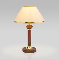 фото Классическая настольная лампа 60019/1 орех