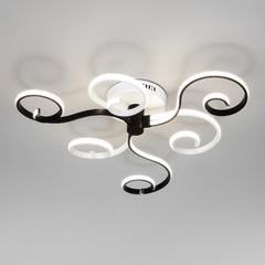 фото Потолочный светодиодный светильник с пультом управления 90149/3 белый/черный