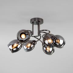 фото Потолочная люстра со стеклянными плафонами 30171/6 черный жемчуг