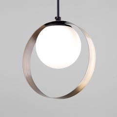 фото Подвесной светильник со стеклянным плафоном 50205/1 черный/бронза