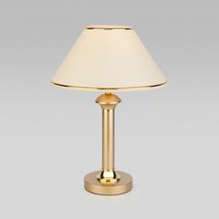 фото Настольная лампа с абажуром 60019/1 перламутровое золото