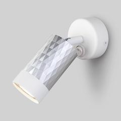 фото Настенный светильник с выключателем 20088/1 белый/серебро