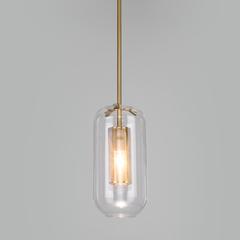 фото Подвесной светильник со стеклянным плафоном 50201/1 бронза