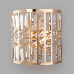 фото Настенный светильник с хрусталем 10116/2 золото/прозрачный хрусталь Strotskis