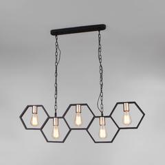 фото Подвесной светильник в стиле лофт 70117/5 черный