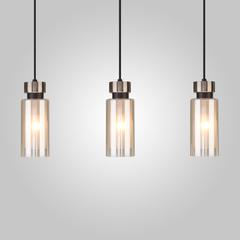 фото Подвесной светильник со стеклянными плафонами 50115/3 черный
