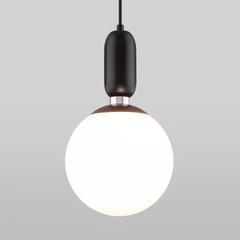 фото Подвесной светильник со стеклянным плафоном 50197/1 черный
