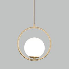 фото Подвесной светильник со стеклянным плафоном 50089/1 золото