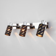 фото Настенный светильник с поворотными плафонами 20090/3 черный/хром